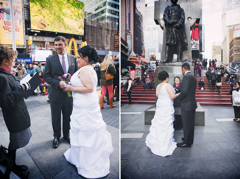get married in times square