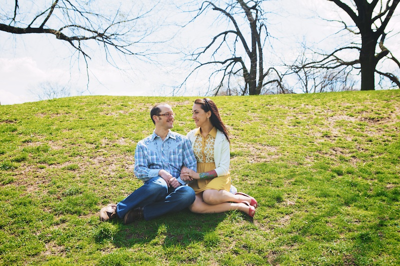 prospect park engagement photos