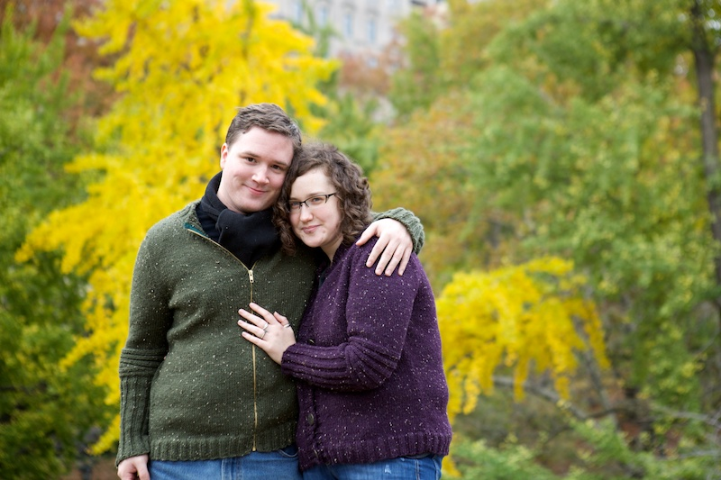central park engagment photos