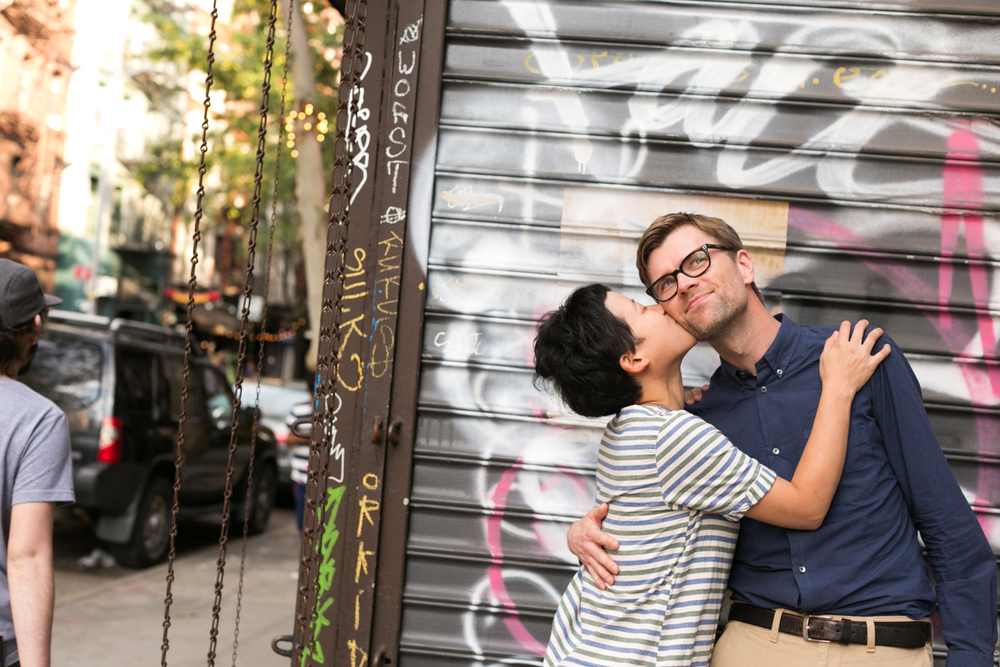 Gritty Manhattan Engagement Photos