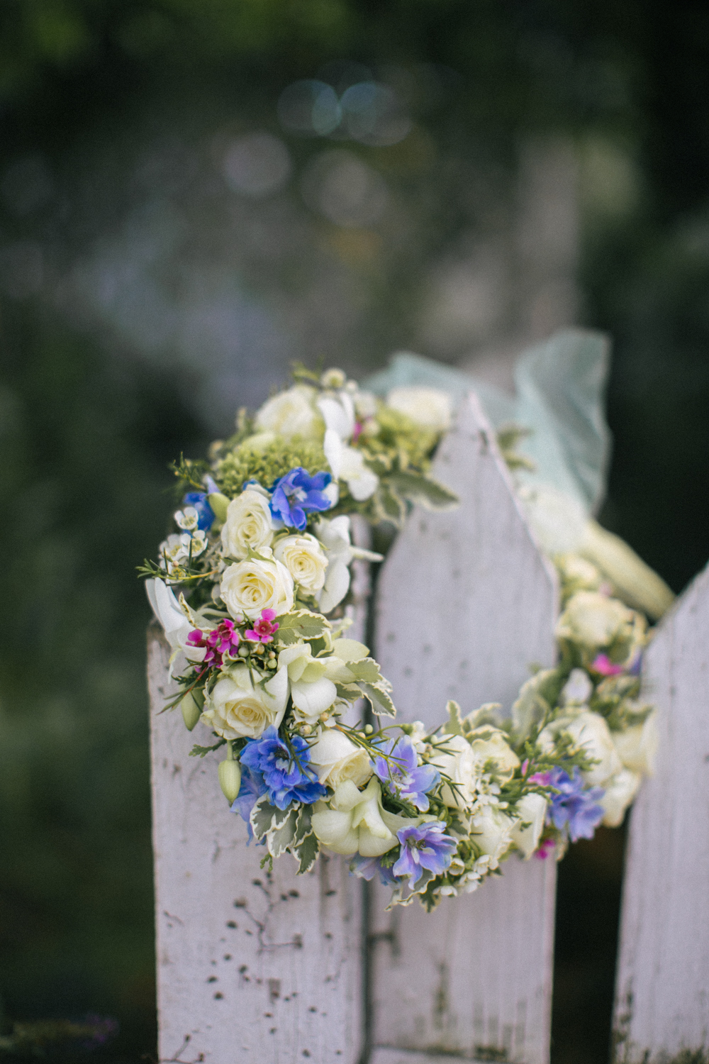 Bridal floral wreath