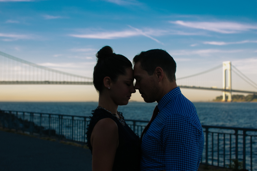 Verrazano Bridge engagement photos