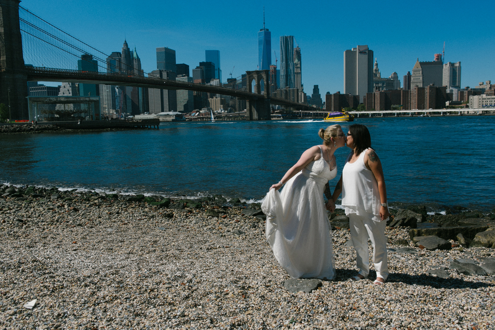 Brooklyn Bridge Park elopement