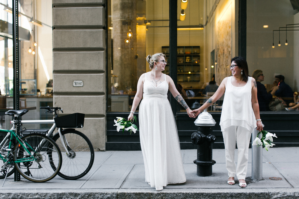 Lesbian wedding in Brooklyn