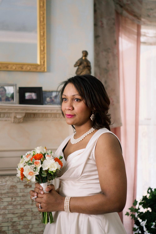 At home wedding photos