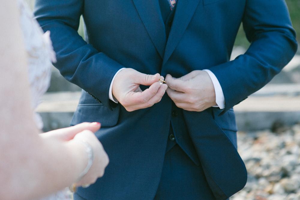Brooklyn elopement wedding ring exchange