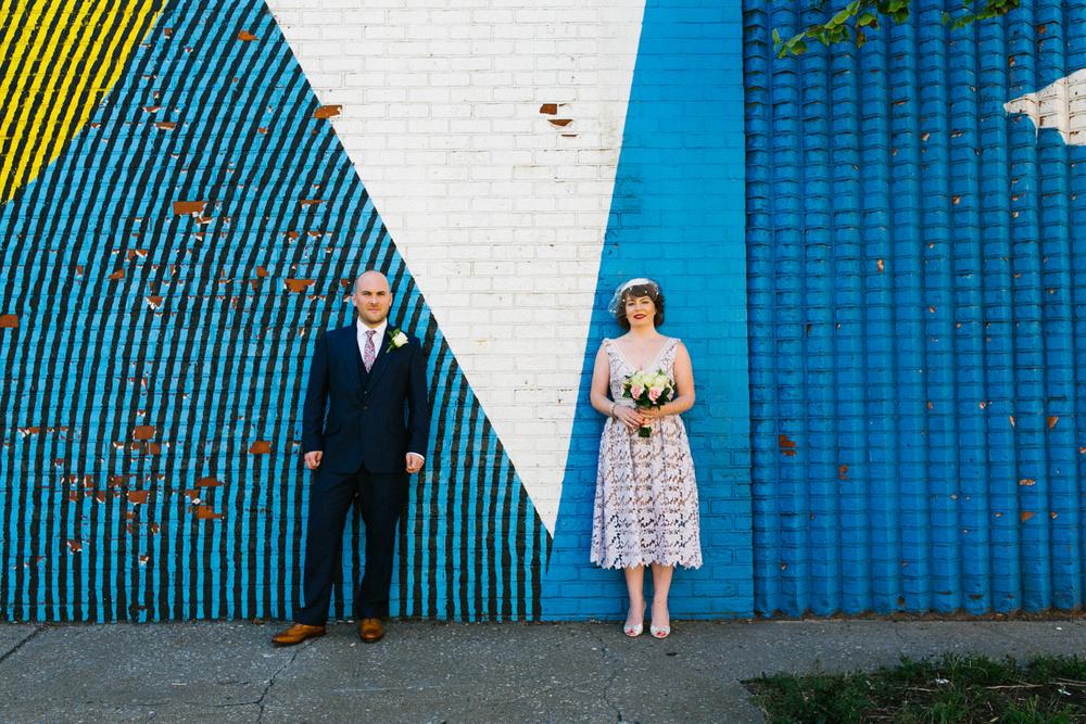 DUMBO wedding portrait
