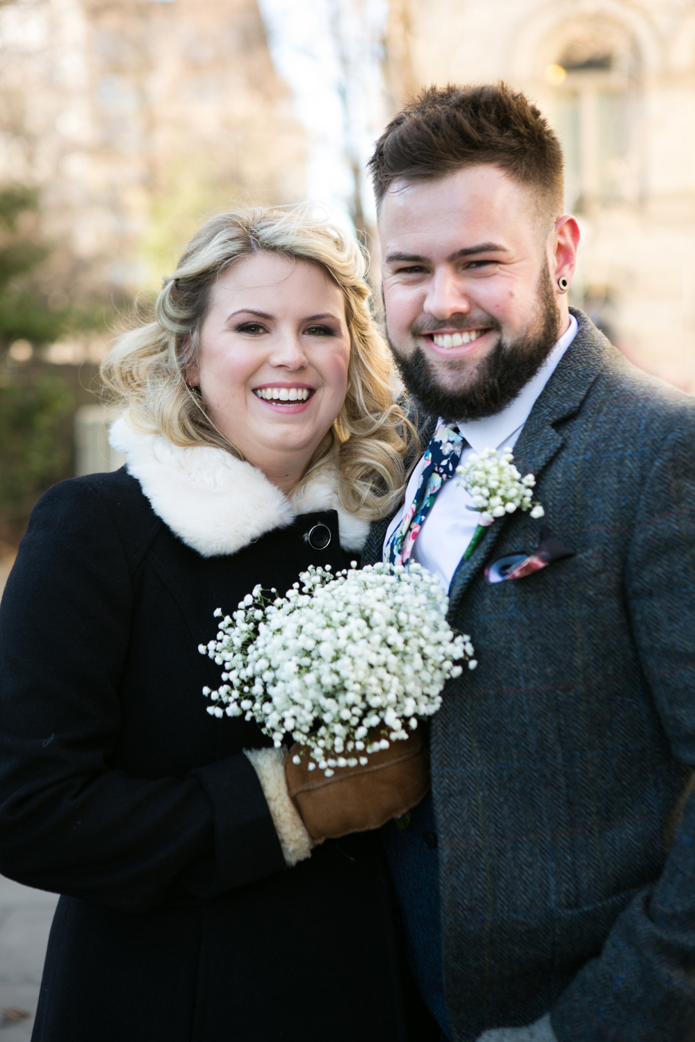 Winter Elopement portraits
