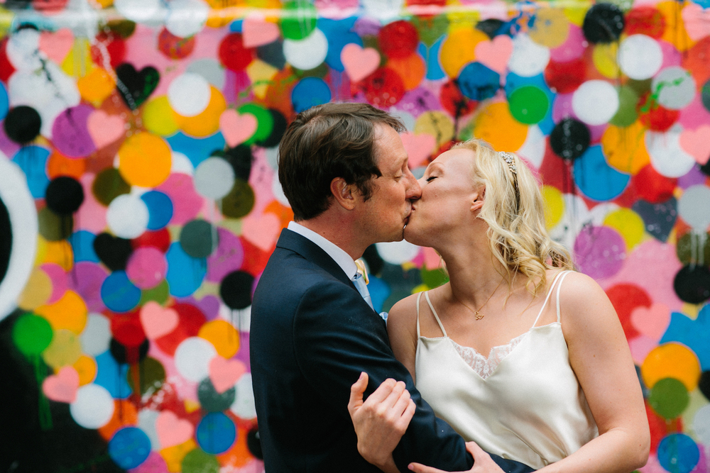 Heart Wall NYC elopement