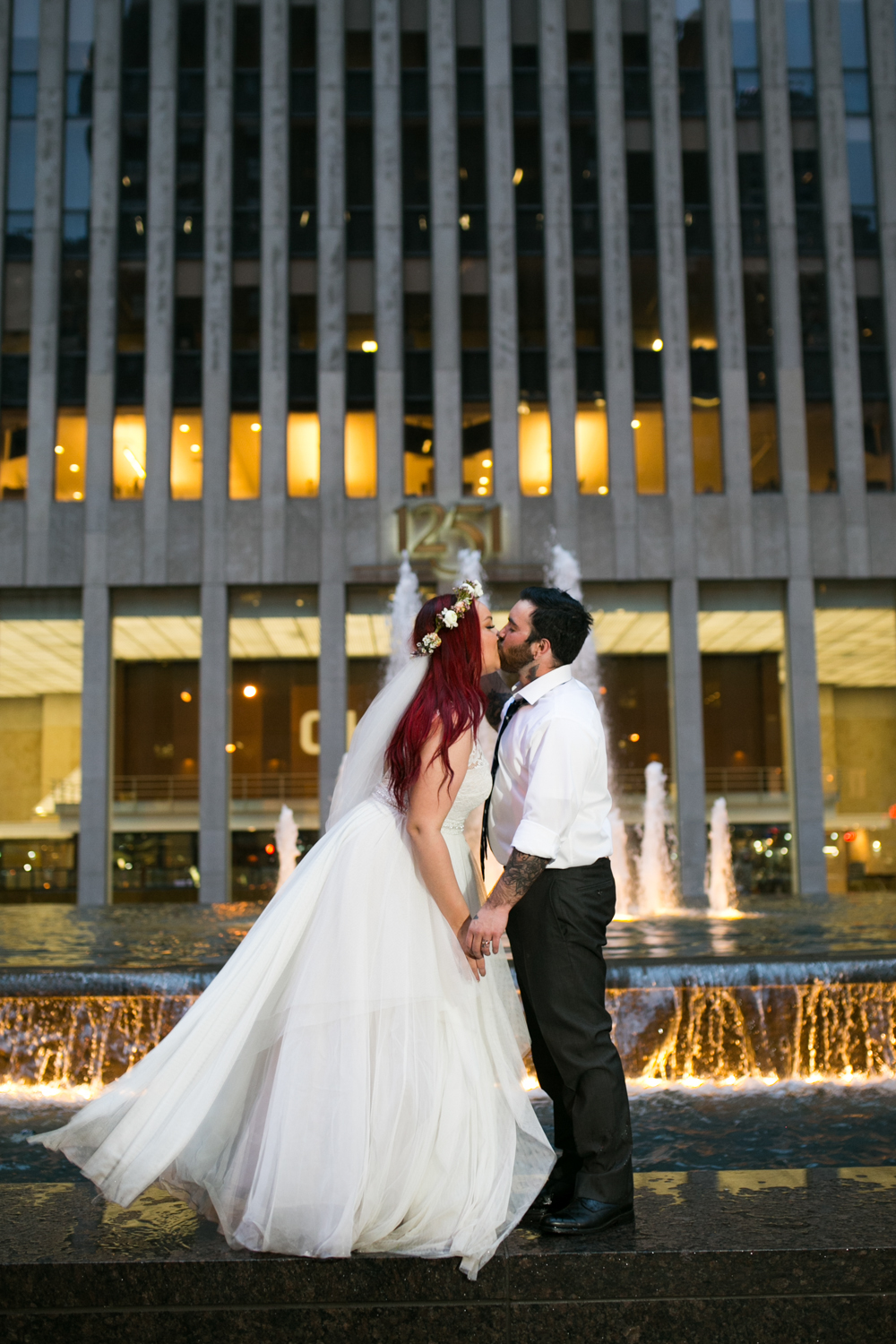 Wedding Photos at Night in NYC