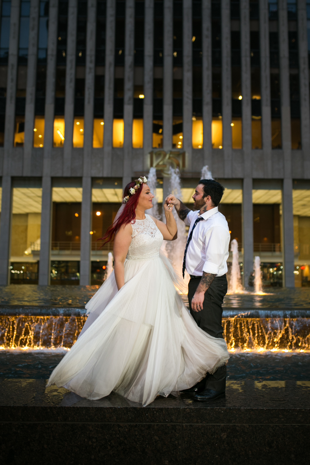 Rainy Wedding Photos in Manhattan
