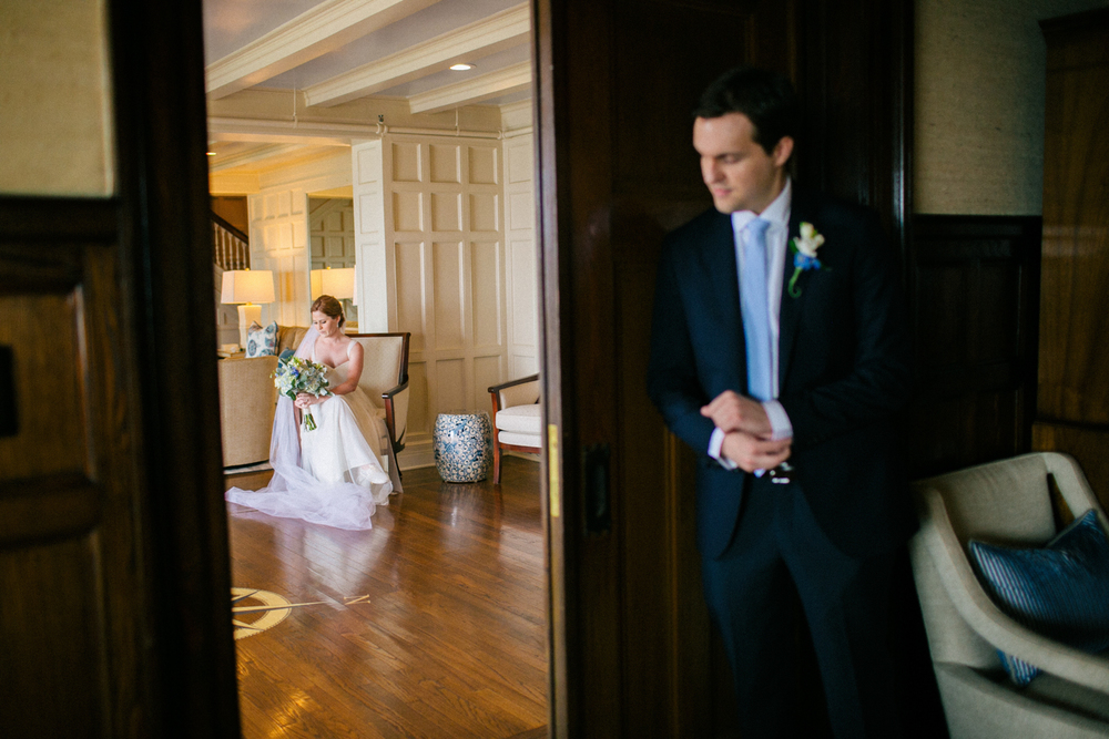 Larchmont Shore Club Wedding first look