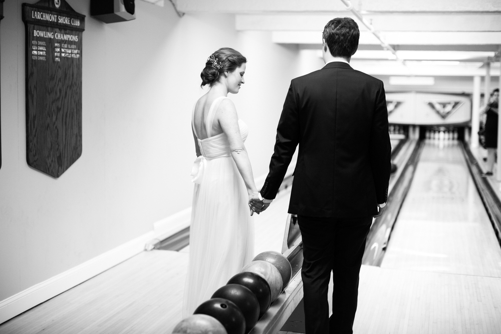 Larchmont Shore Club wedding bowling