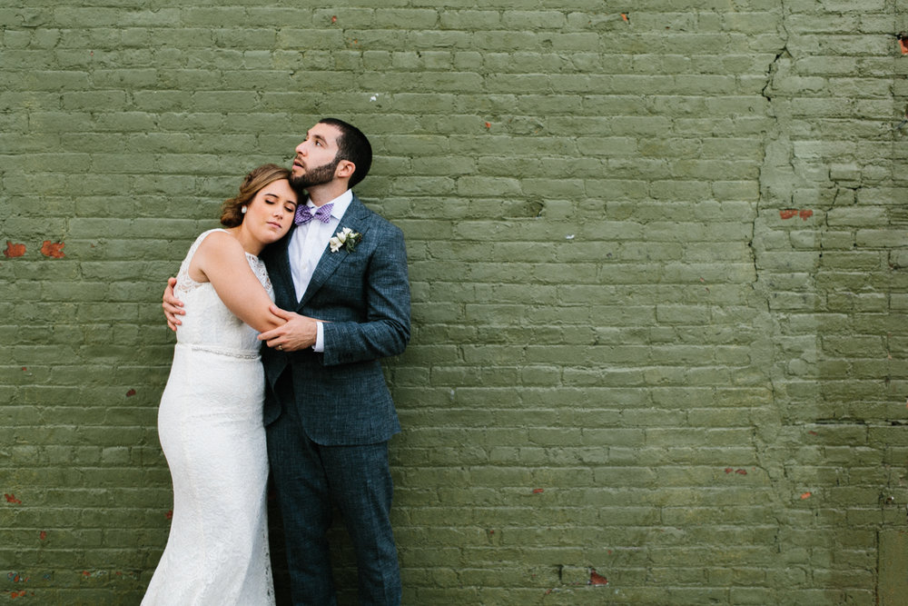 Green Building Brooklyn wedding portraits