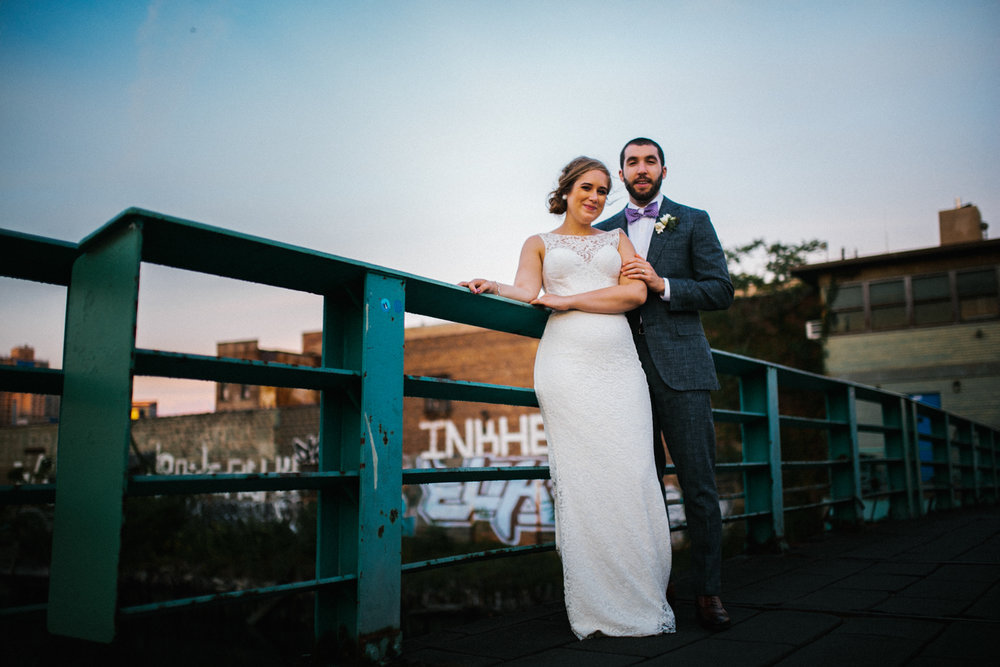 Gowanus Bridge wedding portraits