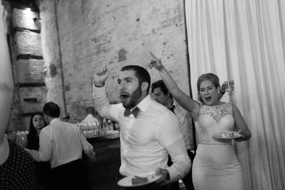 Dancing and Wedding Cake Green Building Brooklyn