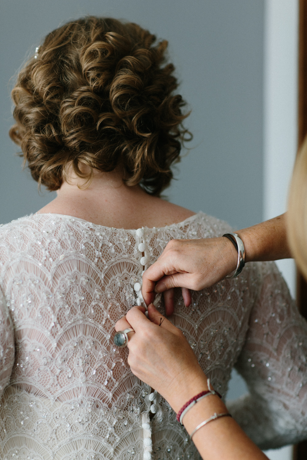 bride getting ready NYC elopement