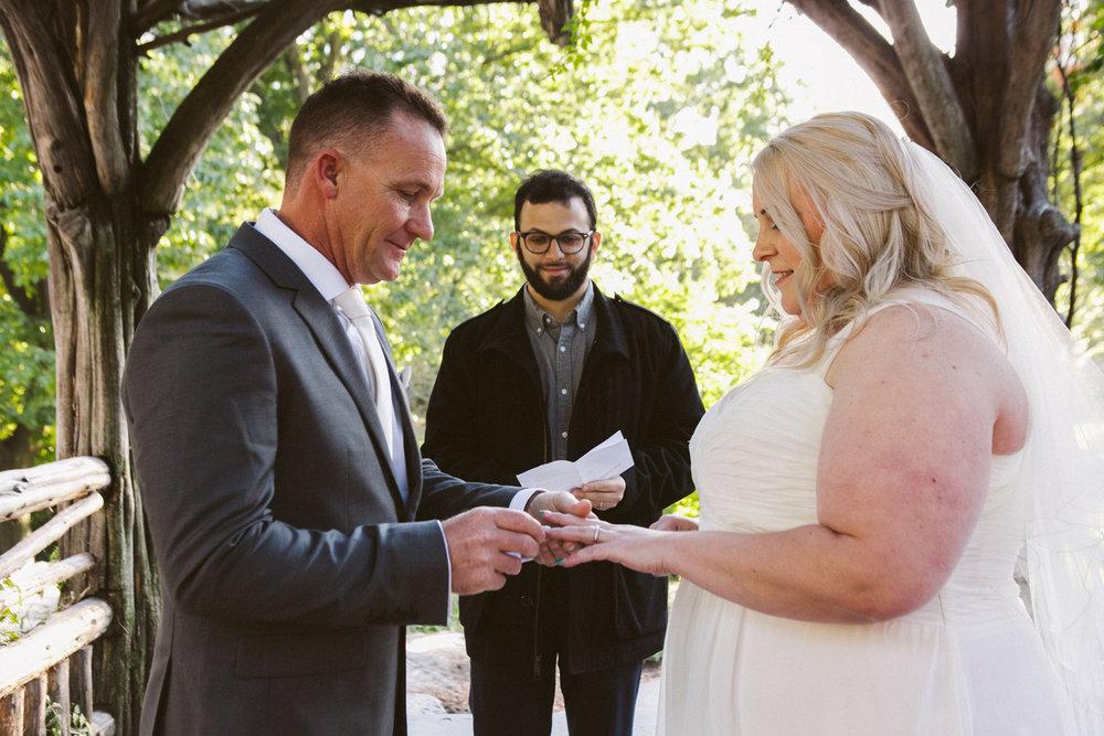 Dene Shelter Central Park Wedding