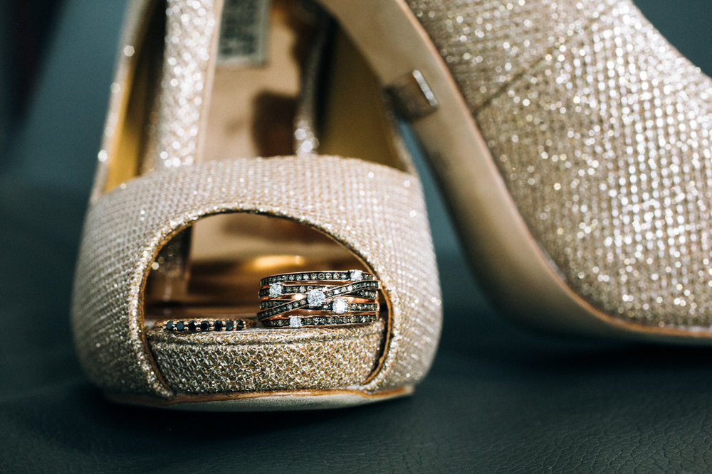 Ring and Shoe detail wedding photo | photographed by Amber Marlow