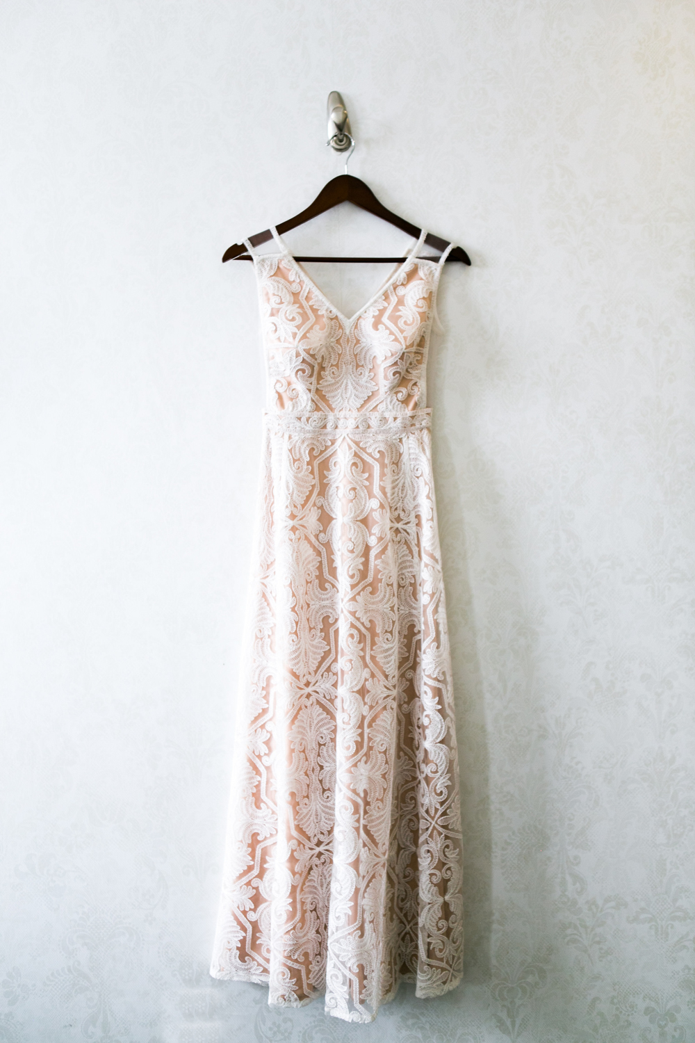 pink BHLDN wedding gown | photographed by Amber Marlow, NYC