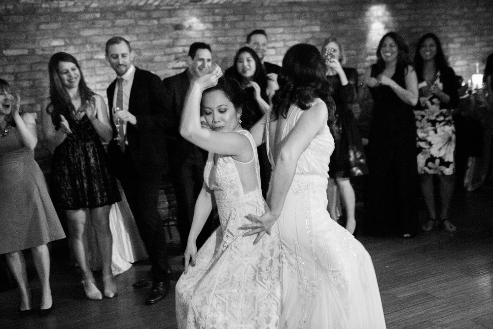 Lesbian wedding dance party! | photographed by Amber Marlow, NYC