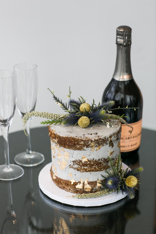 Wild Flour Elopement Cake