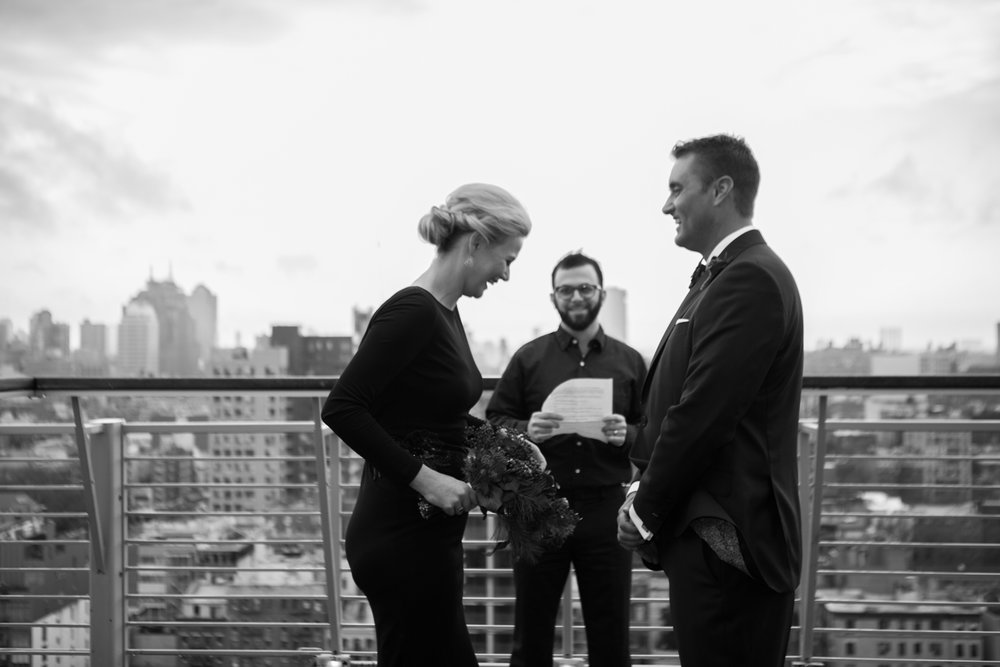 rooftop elopement nyc photos