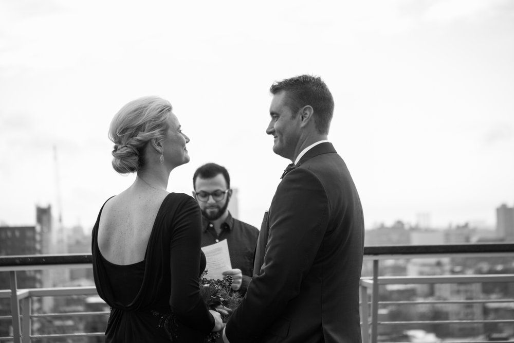 rooftop elopement photos NYC
