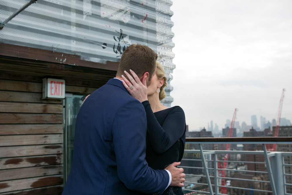 Manhattan rooftop elopement photos