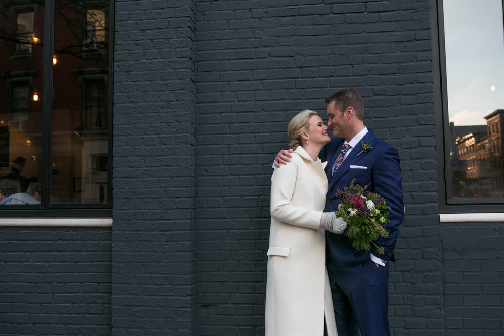 Black tie New York City elopement photos