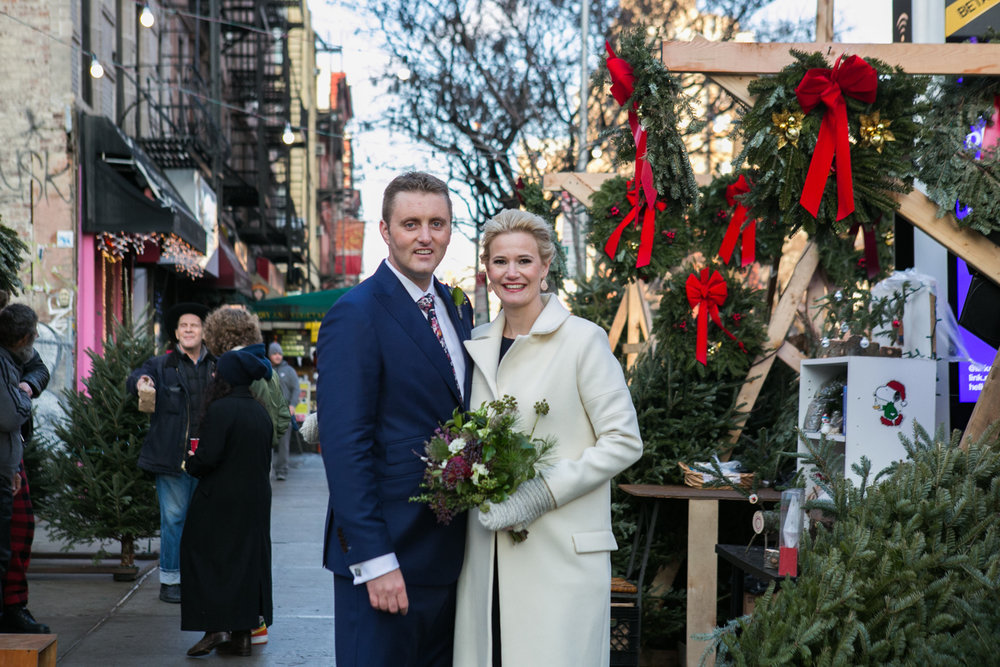 Christmas elopement in New York City