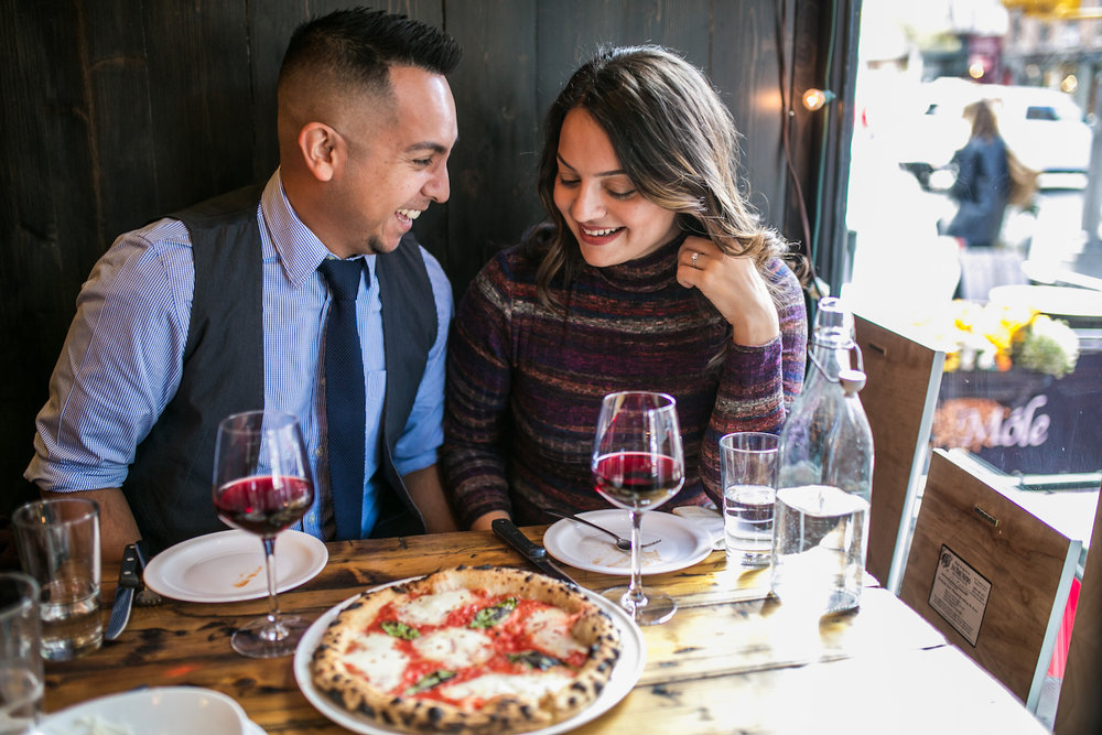 Pizza Engagement Photos