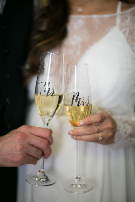 Mr. and Mrs. Champagne Glasses
