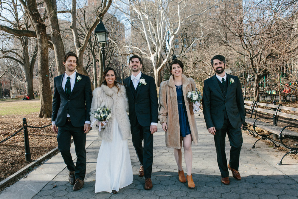 Washington Square Park Elopement Photos