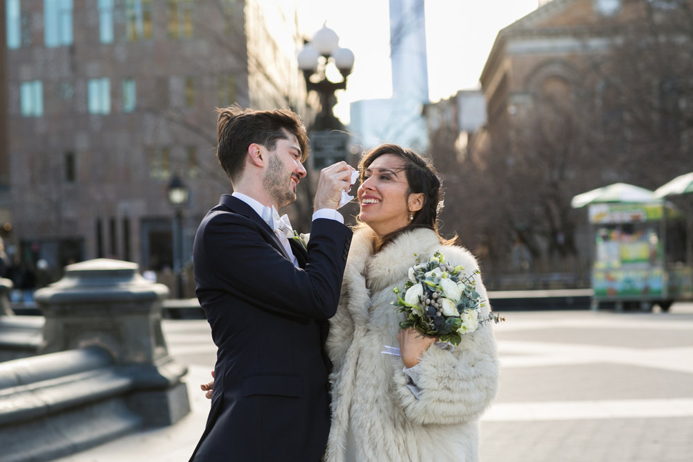 NYC Washington Square Park Elopement Photos