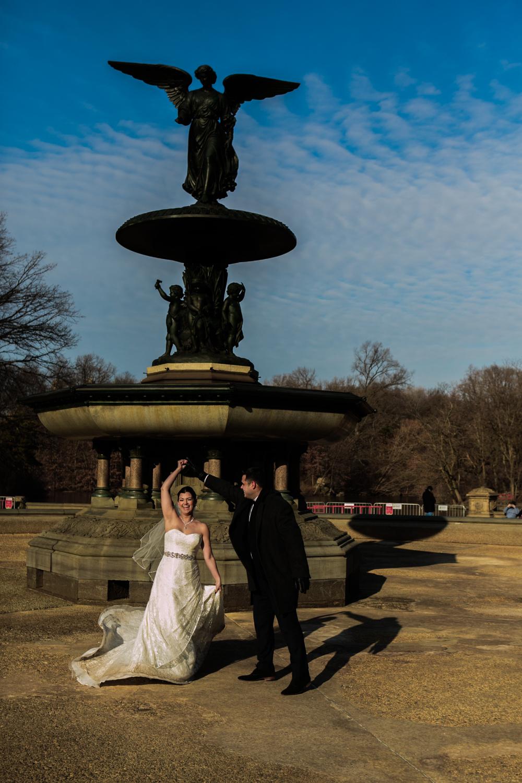 Groom spins his bride