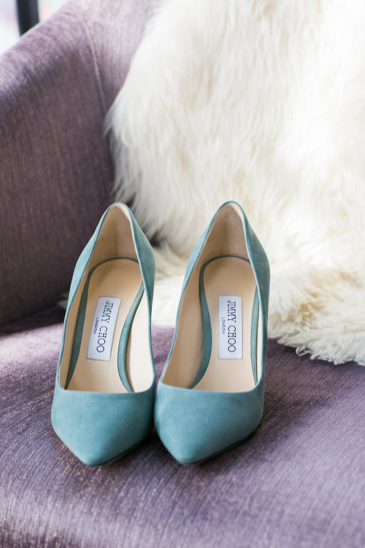Bride's pair of Jimmy Choo's