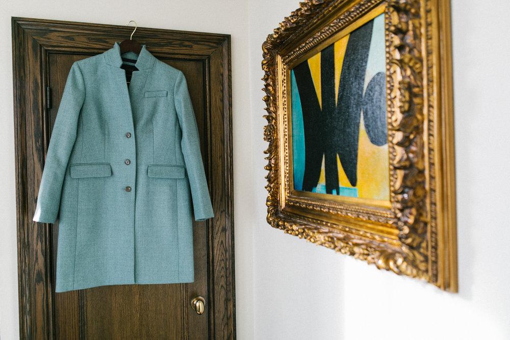 Portrait of brides coat
