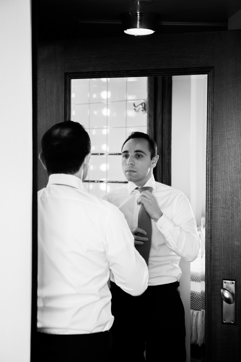 Groom getting ready for his big day