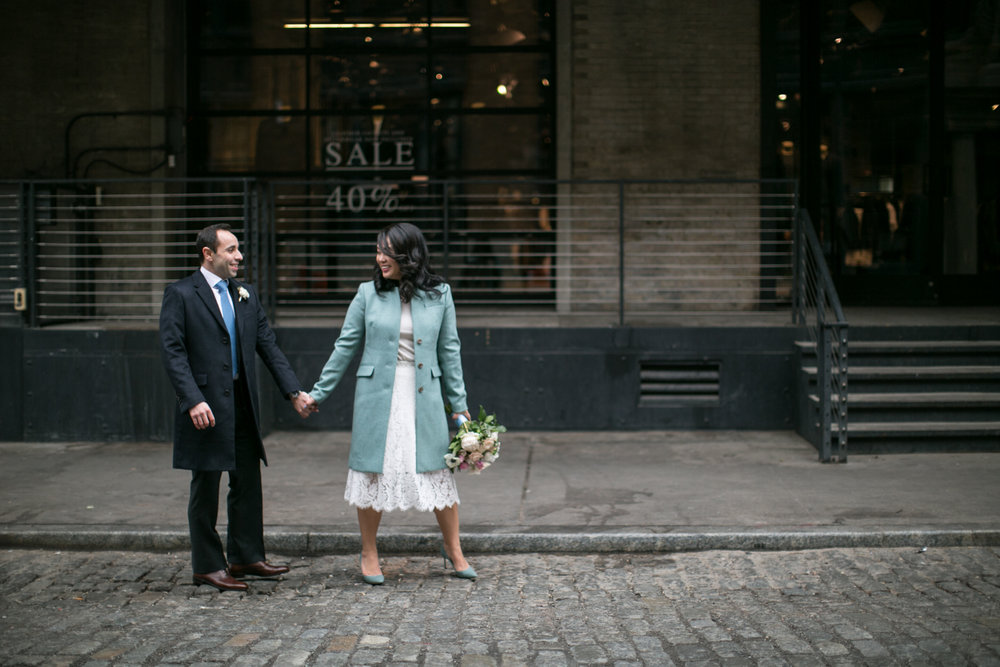 Bride and groom after luxury elopement