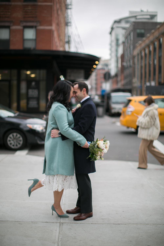 NYC bride in Jimmy Choo's