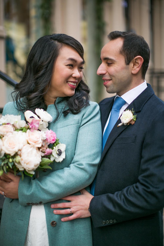 Bride and groom celebrate luxury elopement