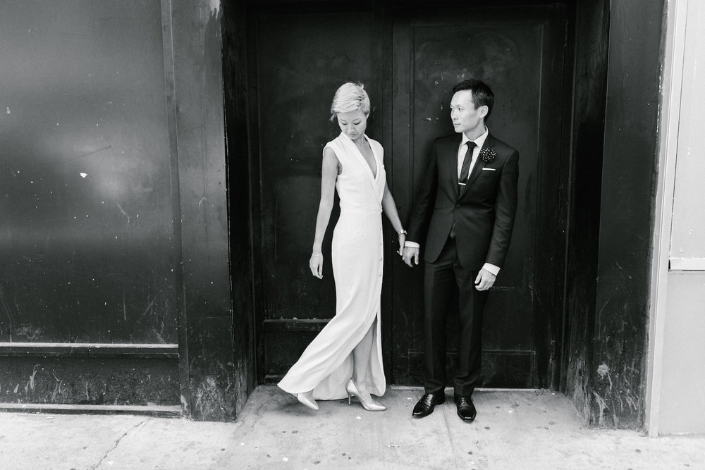 Stylish NYC elopement