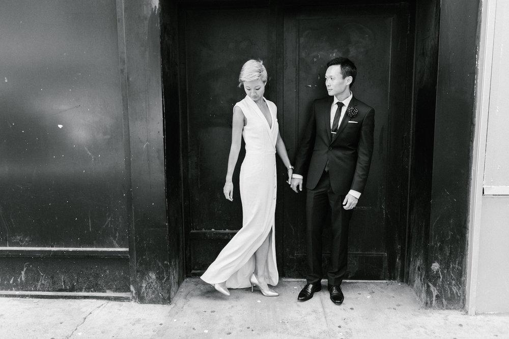 Stylish NYC elopement