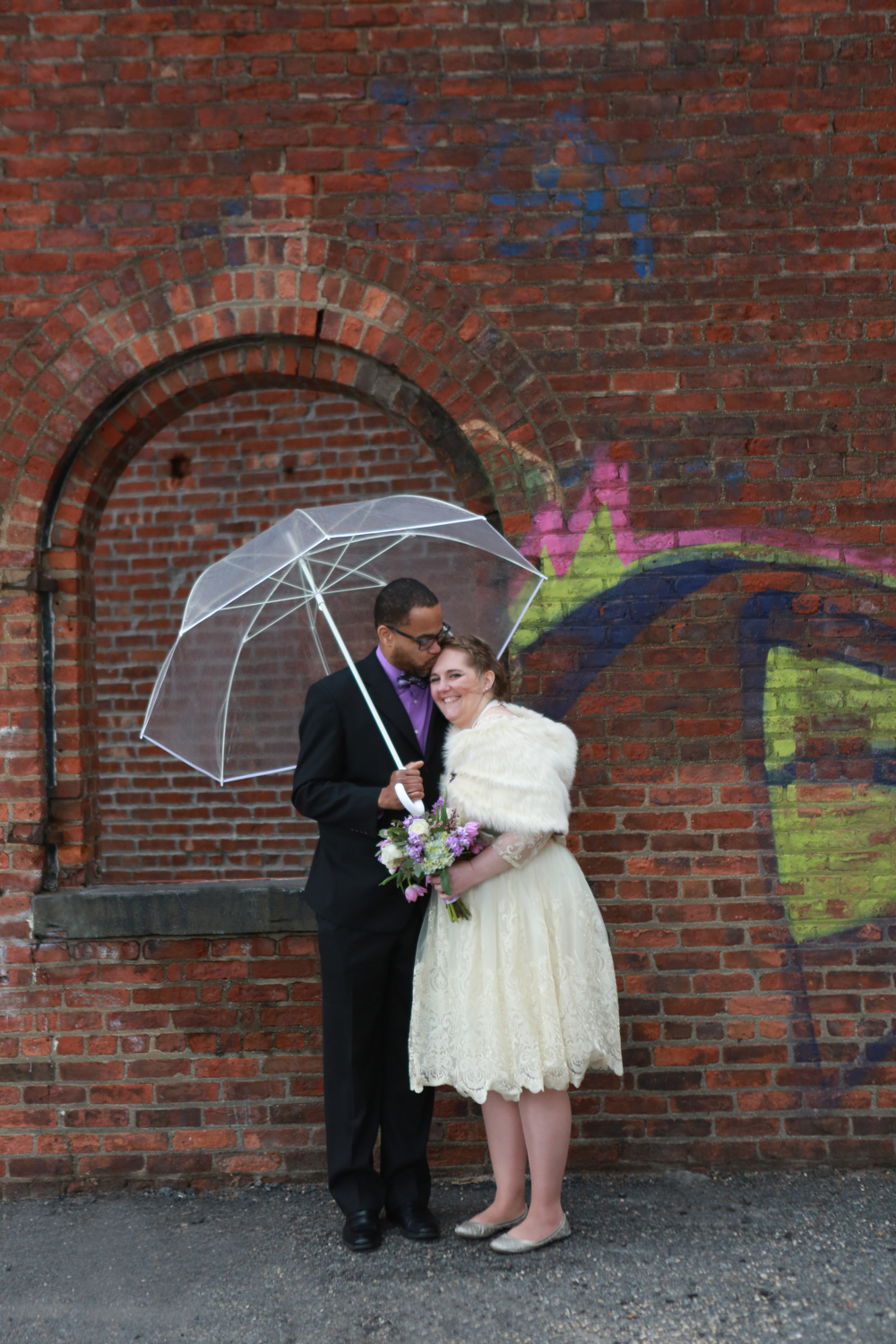 Rainy day NYC elopement