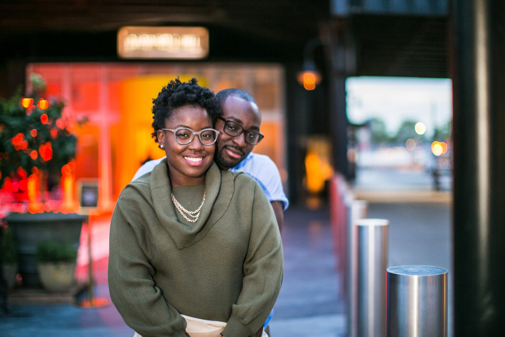 Engagement photography on the streets of New York City