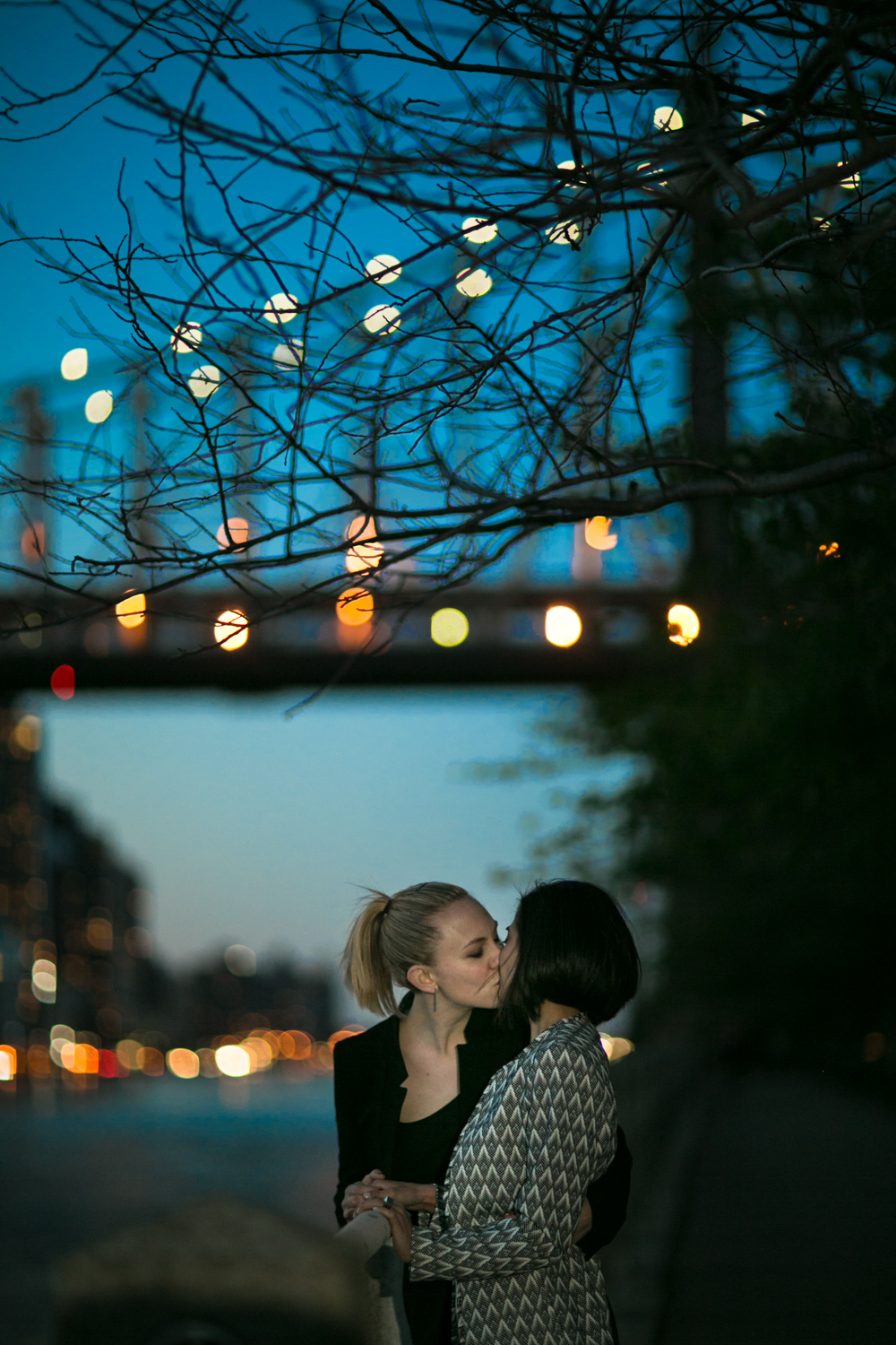 Kissing under the New York City Lights