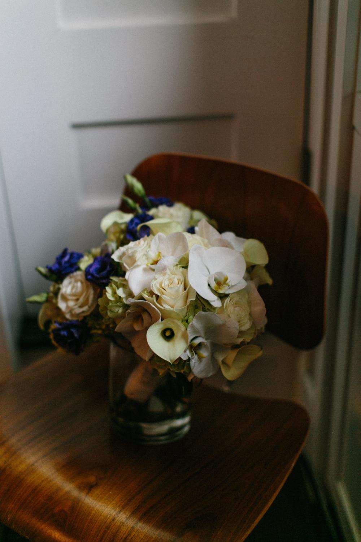 NYC bride's bouquet