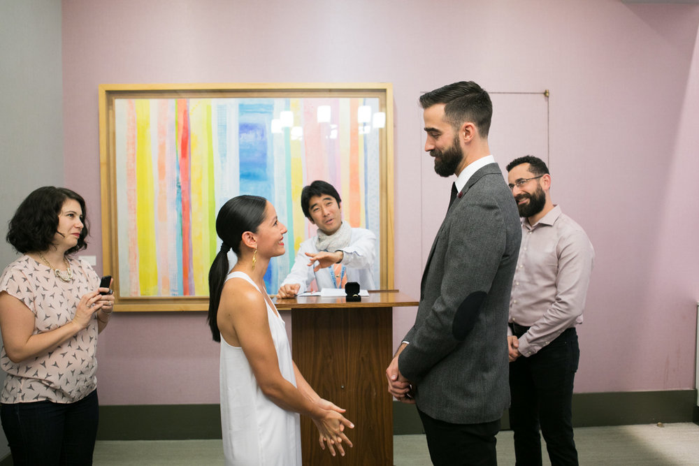 An intimate City Hall wedding in New York.