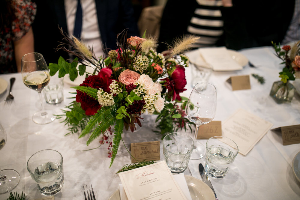 Wedding floral design by  Stems Brooklyn.